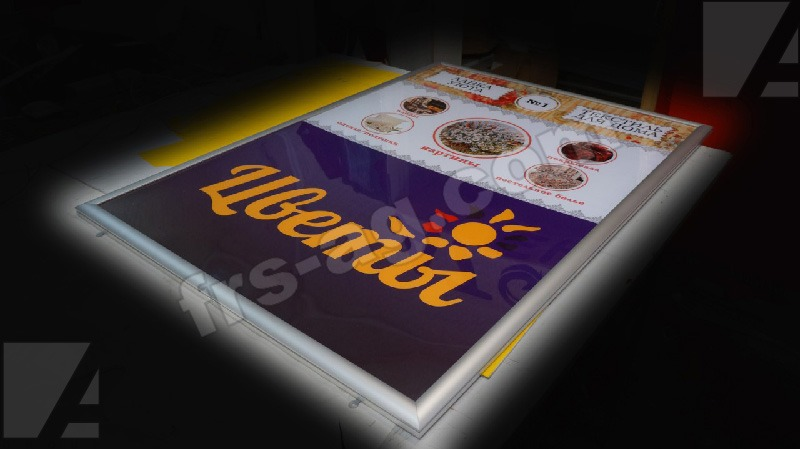 Световая панель (фреймлайт) для магазина цветы | интерьерная вывеска