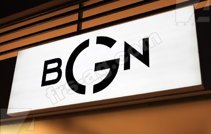 Вывеска для магазина женской одежды BGN | короб световой | frs-ag.com