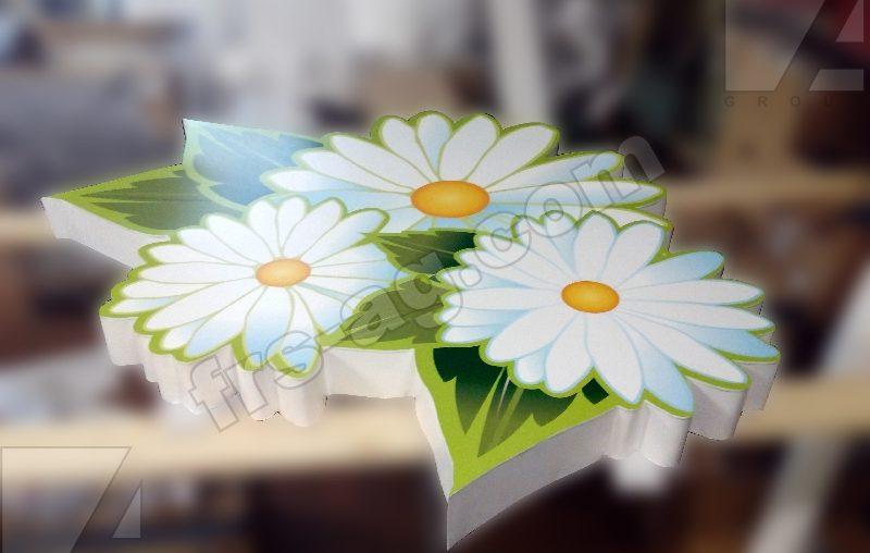 Вывеска для цветочного магазина короб световой фигурный | наружная реклама
