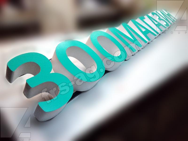 Вывеска для Зоомагазина: объёмные световые буквы