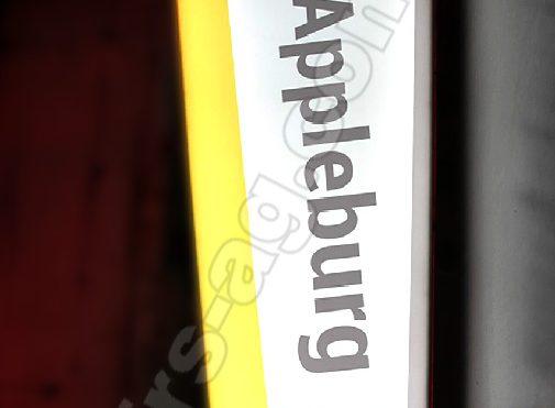 Вывеска для магазина по продаже Apple iphone | консоль световая