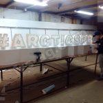 Вывеска для #ARCTICSPB | изготовление