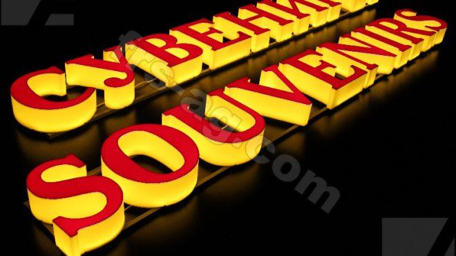 Вывеска для сувенирного магазина | объемные световые буквы