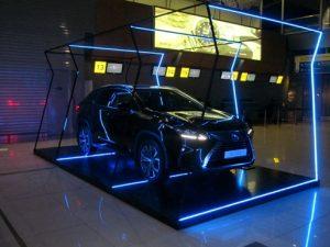 Автоподиум с подсветкой