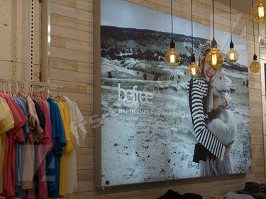 Вывеска световой короб магазин одежды